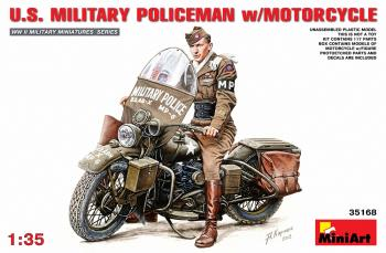 Miniart 1:35 - U.S.Millitary Policeman with Motorcycle