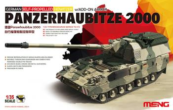 Meng Model 1:35 - GER Panzerhaubitze 2000 Self-Propelled Howitzer W/add on Armor
