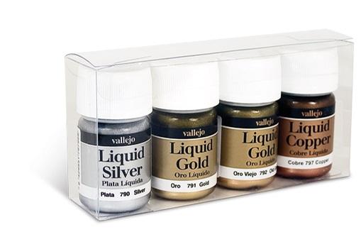 Gold Liquid Dye : Val vallejo model color set liquid gold