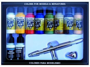 Av Vallejo Model Air Set Ultra Airbrush 10 Basic Colors