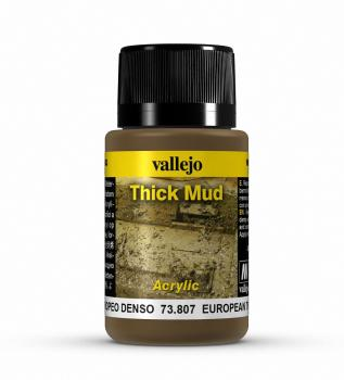 Vallejo Weathering Effects 40ml - European Thick Mud