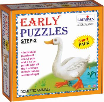 Creative Early Puzzles Step II - Domestic Animals
