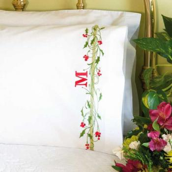 Dimensions Needlepoint: Holly Border Pillowcases