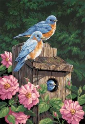 Paintworks Paint by Numbers - Garden Bluebirds