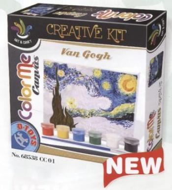 D-Toys - Color Me Canvas (Van Gogh) - Starry Night
