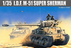 Academy 1:35 - Super Sherman M51 Israeli Defence Force/IDF (Replaces ACA01373)