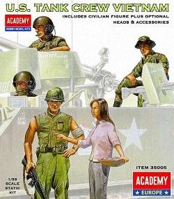 Academy 1:35 - US Tank Crew Vietnam