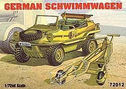 Academy 1:72 - German Schwimmwagen w/ Bomb Cart