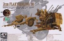 AFV Club 1:35 - 2cm Flak 38 Anti Aircraft Gun (Flakvierling) with Trailer
