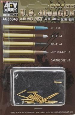 AFV Club 1:35 - Bofors 40mm Ammo (Brass)
