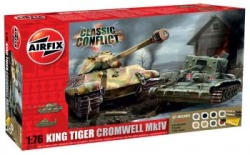 Airfix Gift Set 1:76 - Classic Conflict Cromwell/King Tiger