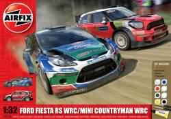 Airfix Gift Set 1:32 - Ford Fiesta WRC / Mini Countryman WRC Twin Pack