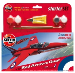 Airfix Gift Set 1:72 - Red Arrows Gnat