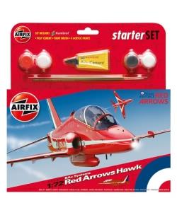 Airfix Gift Set 1:72 - Red Arrows Hawk