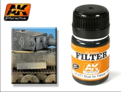 AK Interactive - Blue for Panzer Grey Filter (x6)