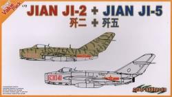 Dragon 1:72 - Jian JI-2 & Jian JI-5 (MiG-15 & MiG-17) Plane