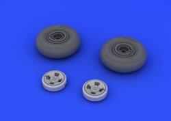 Eduard Brassin 1:48 - Spitfire Wheels - 4 Spoke (Eduard)