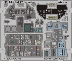 Eduard Photoetch 1:32 - F-117 interior S.A. (Trumpeter)