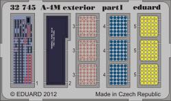 Eduard Photoetch 1:32 - A-4M exterior (Trumpeter)