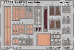 Eduard Photoetch 1:32 - Ju 87B-2 seatbelts (Trumpeter)