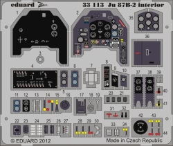 Eduard Photoetch (Zoom) 1:32 - Ju 87B-2 Interior S.A. (Trumpeter)