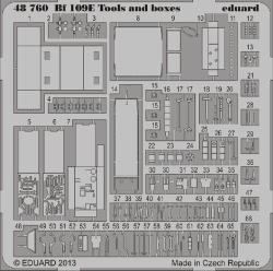 Eduard Photoetch 1:48 - Bf 109E Tools and Boxes