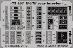 Eduard Photoetch 1:72 - B-17F Rear Interior (Revell)