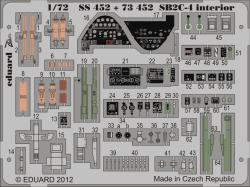 Eduard Photoetch (Zoom) 1:72 - SB2C-4 Interior S.A. (Cyber Hobby)