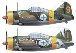 Hasegawa 1:72 - B-239 Bufalo Finnish Air Force Aces Combo