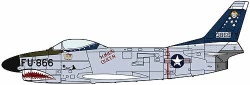 Hasegawa 1:72 - F-86D Sabre Dog - Shark Teeth
