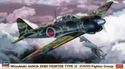 Hasegawa 1:48 - Mitsubishi A6M2b Zero Fighter Type 21 - Juny