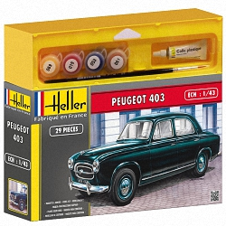 Heller 1:43 Gift Set - Peugeot 403