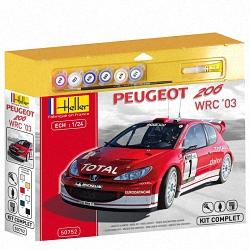 Heller 1:24 Gift Set - Peugeot 206 WRC '03