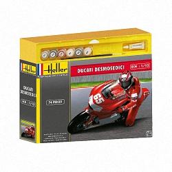Heller 1:12 Gift Set - Ducati Desmosedici Loris Capirossi