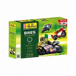 Heller 1:24 Gift Set - Grand Prix Motos (3 Bikes & Bonus Stands)