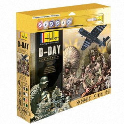 Heller 1:72 Gift Set - D-Day Air Assault (Cont. British Paras, German Infantry,