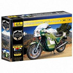 Heller 1:8 Gift Set - Kawasaki 1000GG  'Godier Genoud' Motorbike