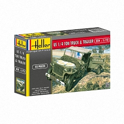 Helller 1:72 - Willys MB Jeep & Trailer