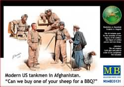 Masterbox 1:35 - Modern US Tankmen in Afghanistan 'A sheep for the BBQ?'