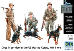 Masterbox 1:35 - Dogs in the service in Marine Corps, WW II era