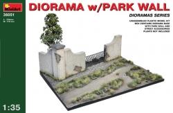 Miniart 1:35 - Diorama w/ Park Wall