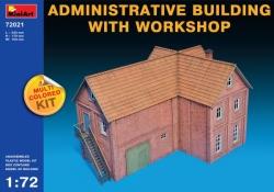 Miniart 1:72 - Administrative Building w/ Workshop (Multi Coloured Kit)