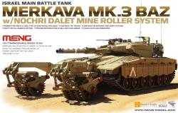 Meng Model 1:35 - Israeli MBT Merkave mk.3 BAZ w/ Nochri Dalet Mine Roller