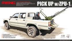 Meng Model 1:35 - Toyota Hilux Pick Up Truck w/ ZPU1 Anti-tank Gun