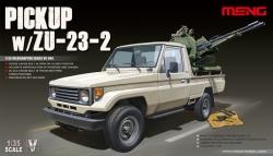 Meng Model 1:35 - Toyota Hilux Pick Up Truck w/ ZU23-2