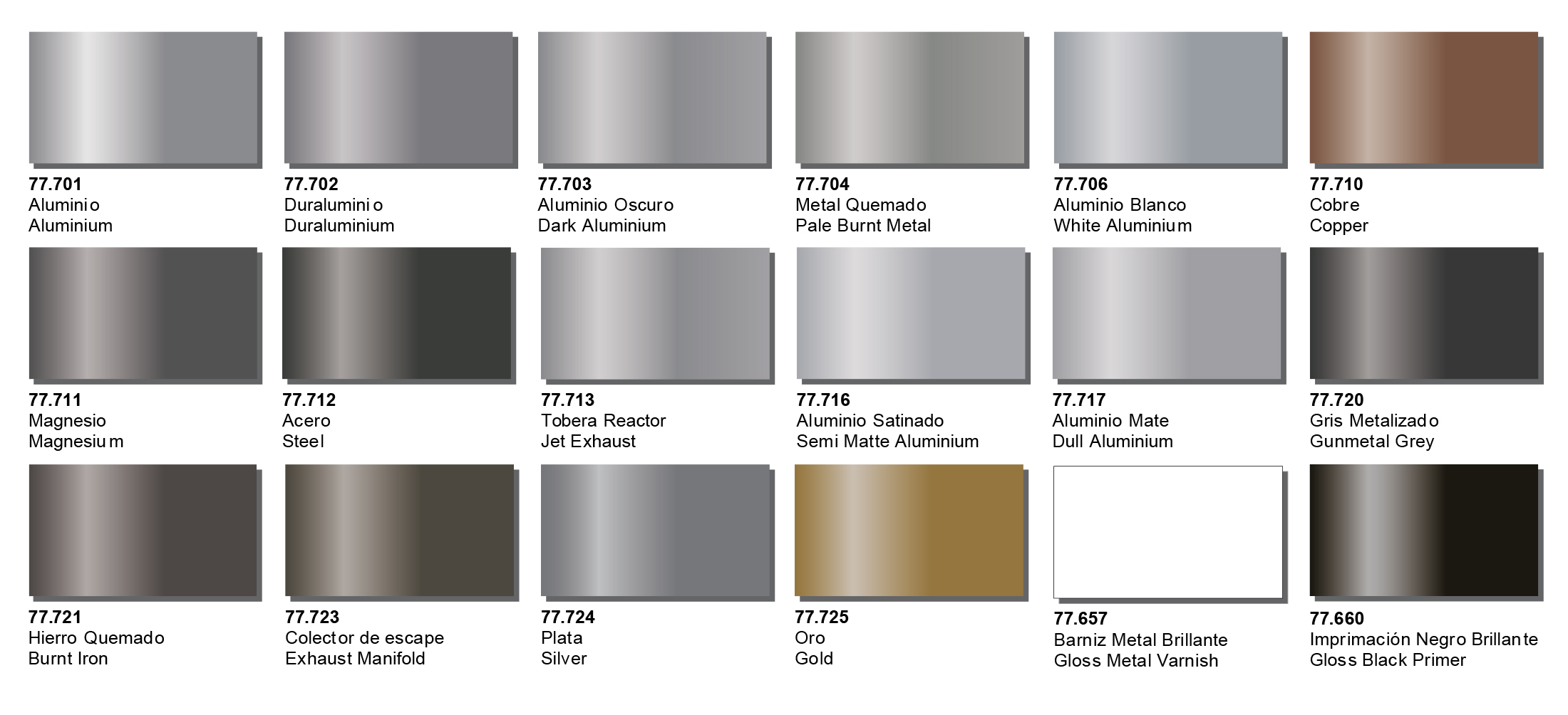 Creative models metal colour is a range of 18 water based metallic colours especially designed for airbrushing in the development of this new and innovative range nvjuhfo Gallery