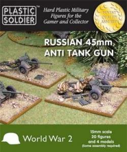 Plastic Solder Company 15mm - Russian 45mm anti tank gun