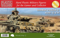 Plastic Soldier Company 1:72 - Easy Assembly Panzer III G, H 3 Vehicles