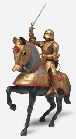 Revell Monogram 1:8 - Gold Knight with Horse