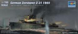 Trumpeter 1:700 - German Destroyer Zerstorer Z-21 1940